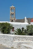 Town of Ano Mera, island of Mykonos, Cyclades Islands Stock Photo