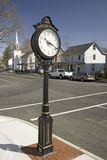 Town antique clock on Main Street of Vincentown Stock Photos