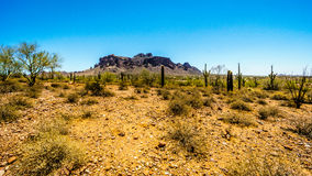 The town of Apache Junction at the foot of Superstition Mountain Royalty Free Stock Image