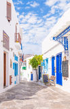 The town of Apollonia, Sifnos, Greece Stock Photos