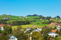 Town of Appenzell in Switzerland in autumn. View in the town of Appenzell in Switzerland at the end of September. Appenzell is the capital of the Swiss canton of stock photography