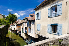 Town of Arbois. Arbois in  Departement Jura, Franche-Comte, France Royalty Free Stock Image