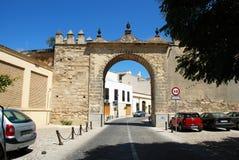 Town arch, Jerez de la Frontera. Royalty Free Stock Photography