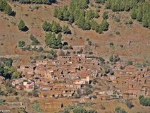 Town in the Atlas. The Atlas of Morocco is a mountainous system that runs throughout Northwest Africa. The Atlas population is mostly Berber. The Atlas separates royalty free stock images