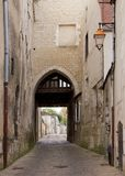 The town of Auxerre (Burgundy France) Royalty Free Stock Photos