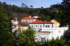 town av Caldas de Monchique Royaltyfri Fotografi