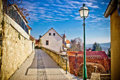 Town av den Varazdinske toplicewalkwayen Arkivfoton