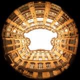 Town av guld- Arkivfoto