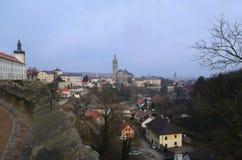 Town av Kutna Hora Arkivfoton