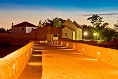 Town av platsen för Nin walkwaynatt Arkivbilder