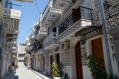 Town av pyrgien i greece Royaltyfri Bild