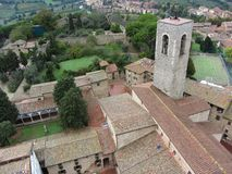 Town av San Gimignano Itlay Arkivfoton