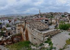 Town of Avanos is set on banks of Kizilirmak Red river,Cappadocia Stock Photography