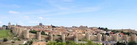Town of Avila in Spain. Europe Royalty Free Stock Image