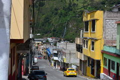Town of Baños, Ecuador. Beautiful view of the small town of Baños, in Ecuador stock photography
