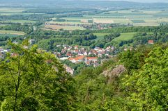 Town of Bad Harzburg in Germany. Aerial view of Town of Bad Harzburg in Germany Stock Photo