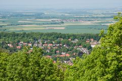 Town of Bad Harzburg in Germany. Aerial view of Town of Bad Harzburg in Germany Stock Photos