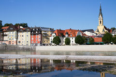 Town of Bad Toelz in Upper Bavaria, Germany Stock Images