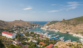 Town in Balaklava bay. view on top. Stock Image