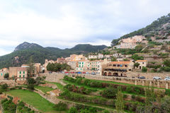 Town Banyalbufar mountain panorama on Majorca Stock Photos