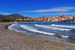 The town Banyuls-sur-Mer in France Royalty Free Stock Image