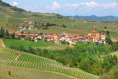 Town of Barolo among hills. Piedmont, Italy. Royalty Free Stock Photo