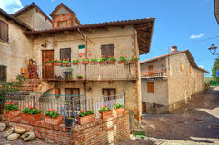 Town of Barolo. Piedmont, Italy. Stock Photos