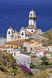 Town and basilica of Candelaria at Tenerife Stock Photo