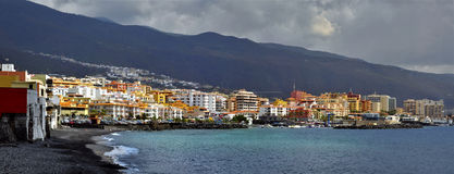 Town and beach of Candelaria at Tenerife royalty free stock image