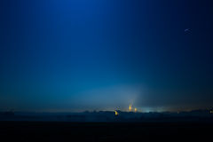 Town in the beautiful night Stock Image