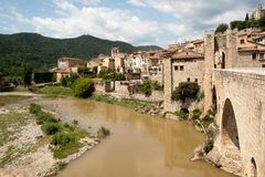 Town of Besalu Cataonia Spain Stock Images