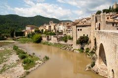 Town of Besalu Cataonia Spain stock images