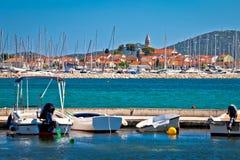 Town of Biograd Na Moru coastline view Royalty Free Stock Photography