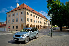 Town of Bjelovar square architecture Royalty Free Stock Photos