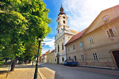 Town of Bjelovar square view Royalty Free Stock Photos