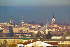 Town of Bjelovar winter skyline Stock Photo