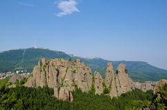 The town of Bleogradchik and the famous Belogradcjik Rocks Stock Photo