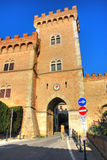 Town of Bolgheri, Tuscany, Italy,. The tower at the entrance of the small town of Bolgheri Royalty Free Stock Photography