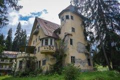 Villa in decay in Transylvania, Romania royalty free stock image