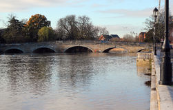 Town bridge at Bedford. Stock Photography