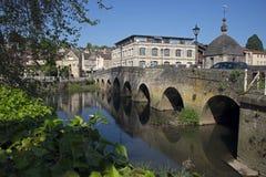 Town Bridge Braford-Upon-Avon. Bradford-Upon-Avon Wiltshire River Avon Royalty Free Stock Image