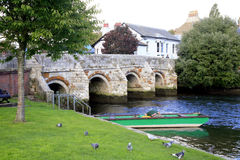 The town bridge, Christchurch, Dorset. Stock Image