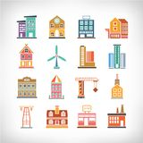 Town Buildings Royalty Free Stock Photos
