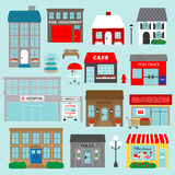 Town buildings clipart Royalty Free Stock Image