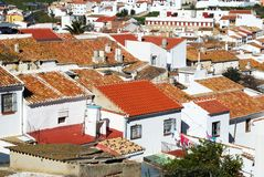 Town buildings, Colmenar, Spain. Royalty Free Stock Photography