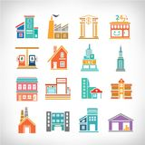 Town Buildings set Royalty Free Stock Photos