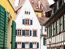 Town buildings stock image