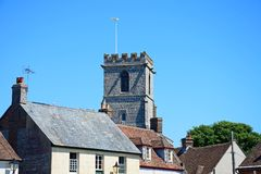 Town buildings, Wareham. Stock Image