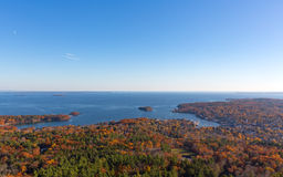 Town of Camden Maine in the late fall. Stock Image