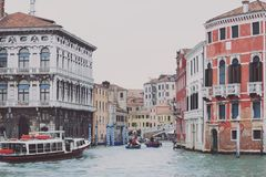 Town Canal Water Boats Royalty Free Stock Images